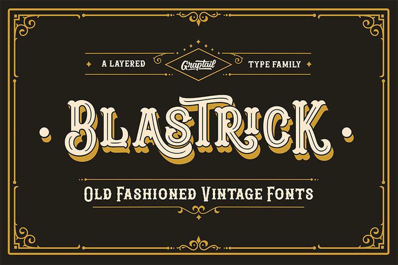 blastrick-復古字體