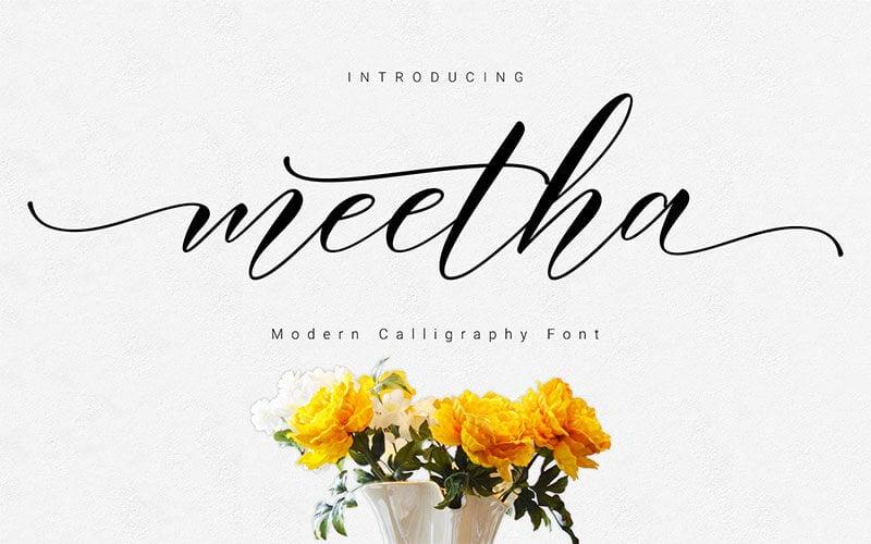 meetha腳本的字體