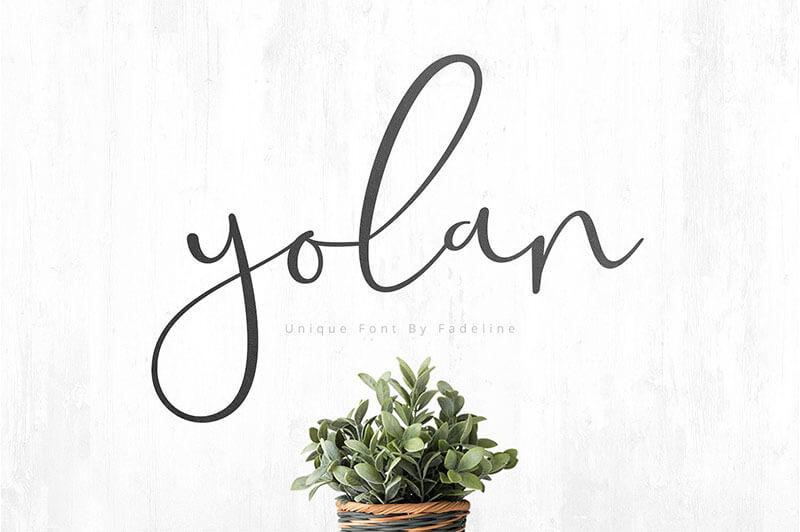 yolan腳本的字體