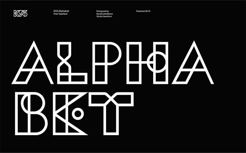 K95-字母,字體