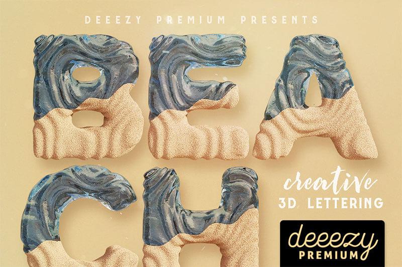 沙灘3D刻字-deeezy-1