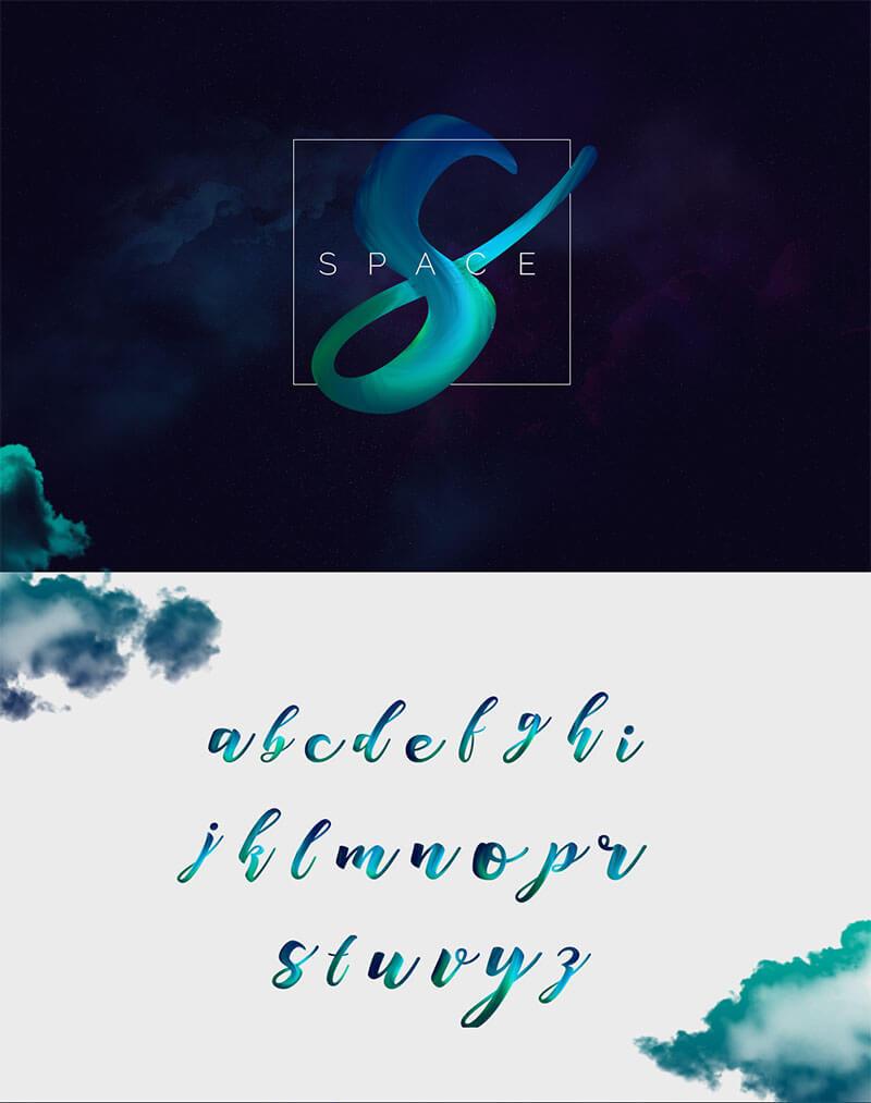 空間的自由字體