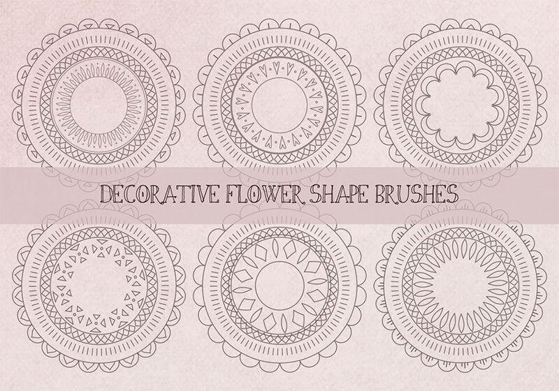 裝飾抽象的花形,刷