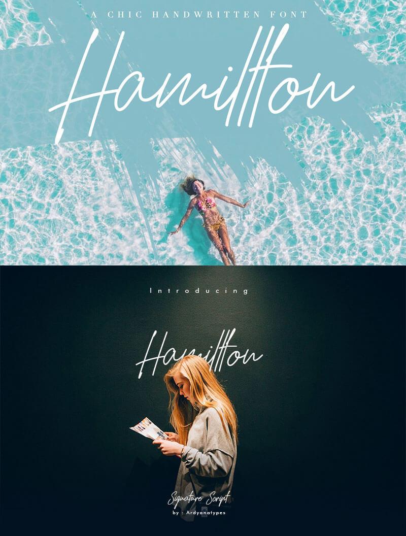 hamillton簽名的字體