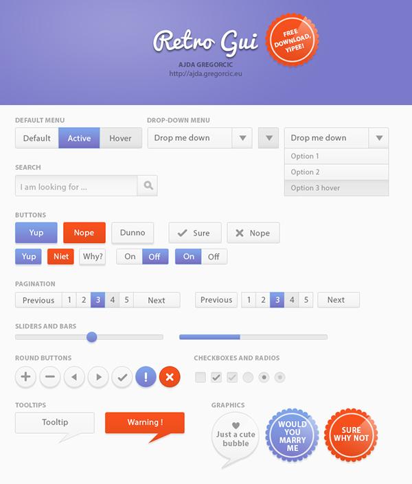 Free Retro Web GUI