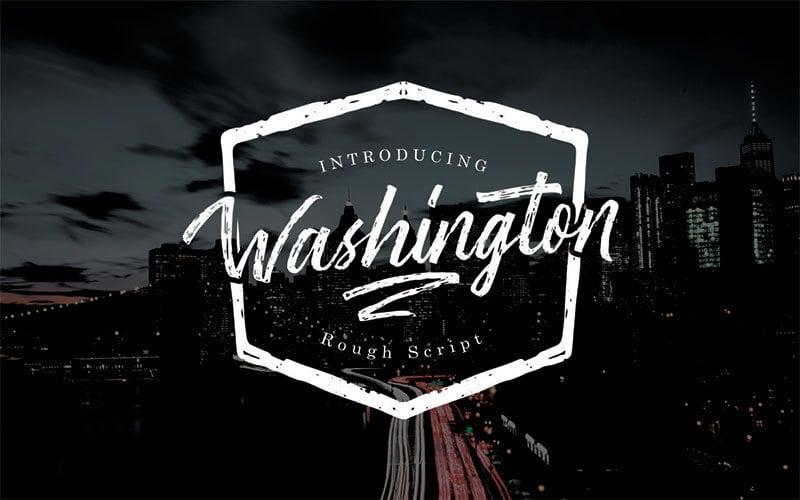 華盛頓粗腳本的字體
