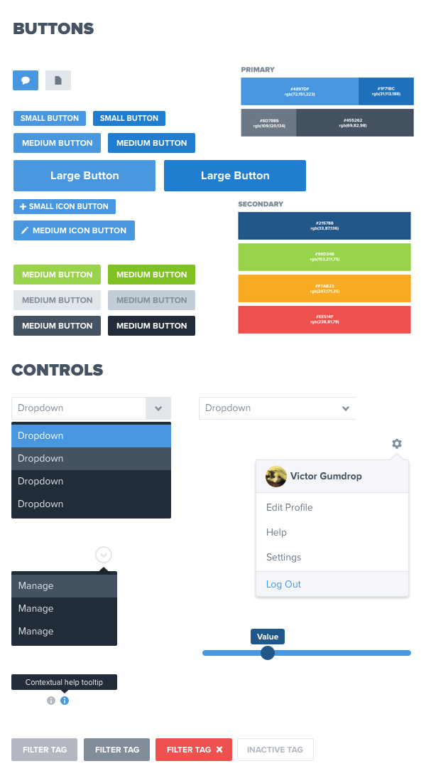 Creator Platform UI Kit: Sketch