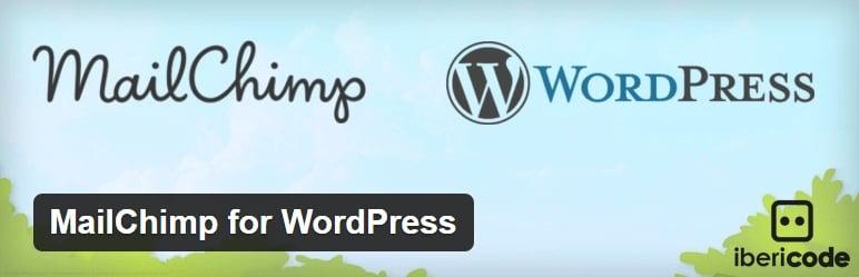 mailchimp換的WordPress的,WordPress的的,插件
