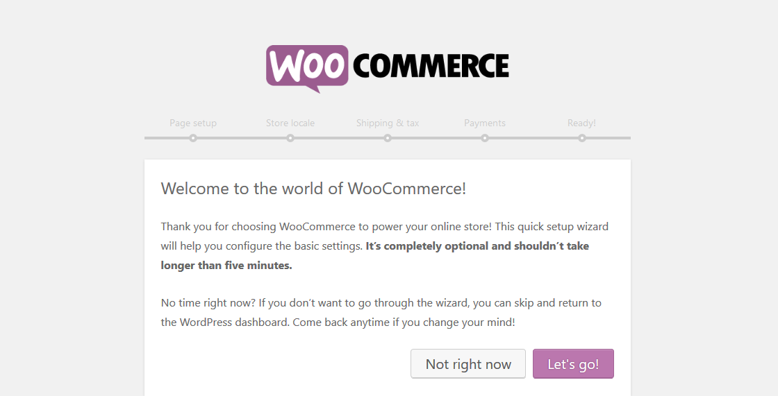 WooCommerce - 設置嚮導條最佳WordPress的,插件