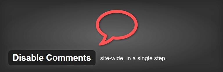 禁用 - 評論 - WordPress的,插件