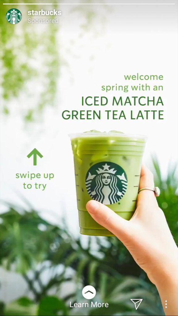 Starbucks Coffee call to action examples