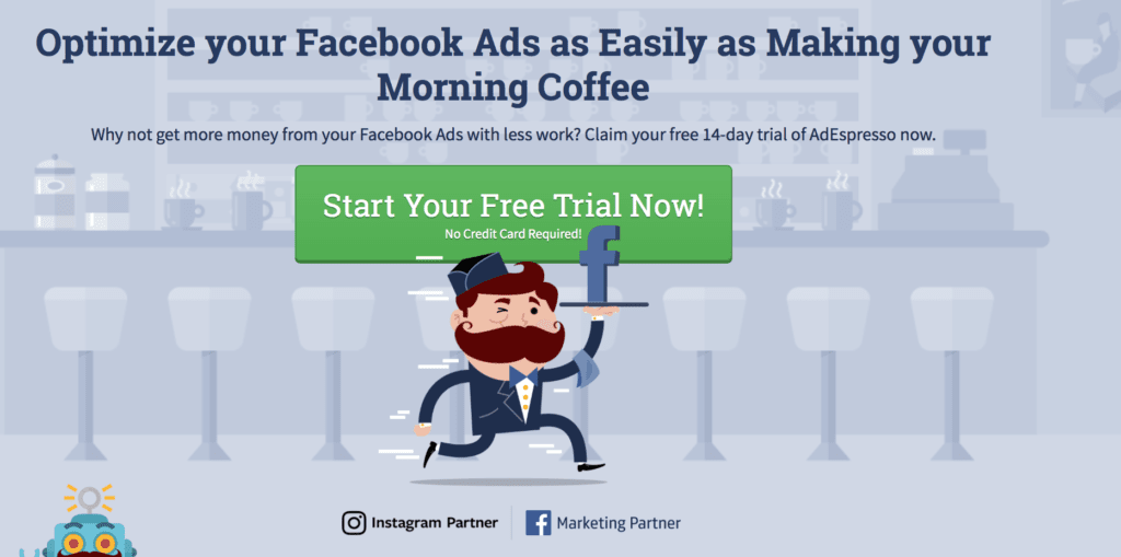 AdEspresso Facebook Ads call to action examples