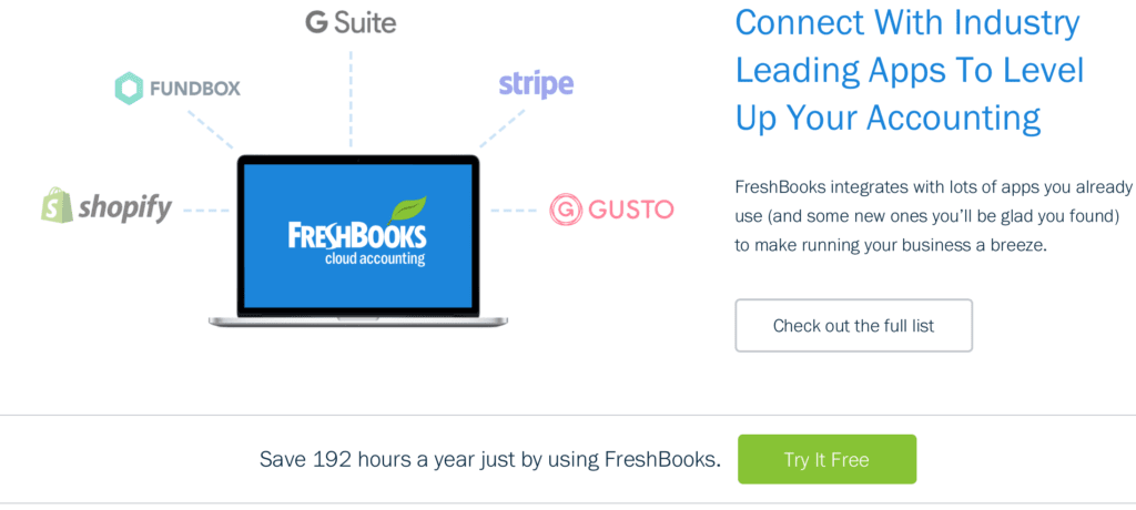 FreshBooks call to action examples