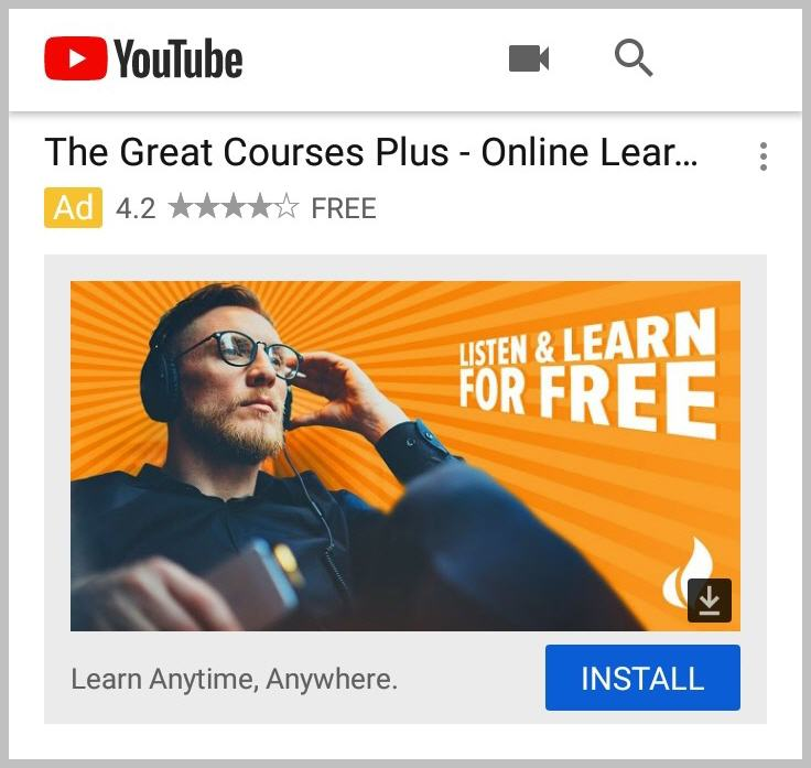 The Great Courses Plus call to action examples