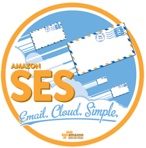 The logo of the Amazon SES.