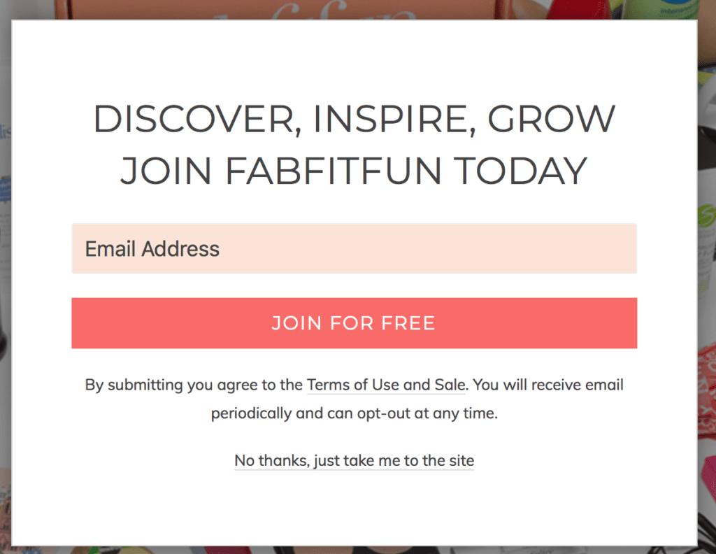 FabFitFun call to action examples