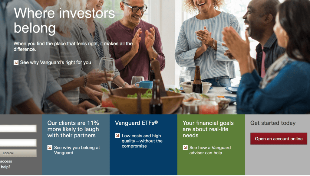 Vanguard EFTs investing call to action examples
