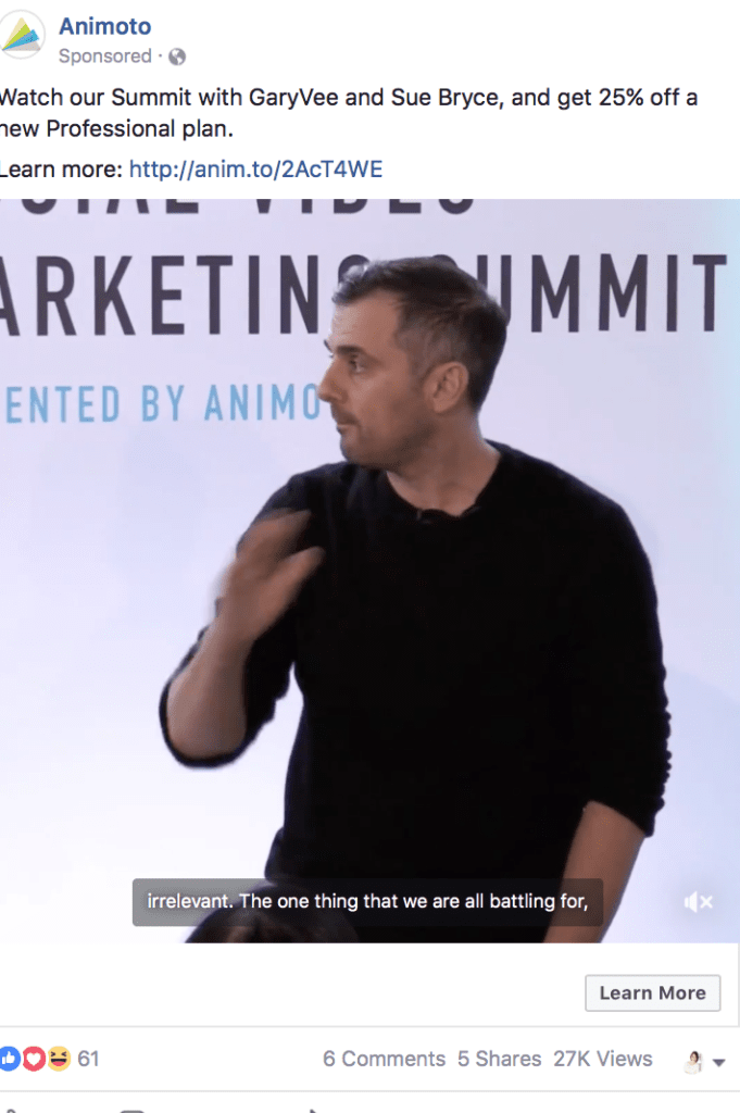 Animoto call to action examples