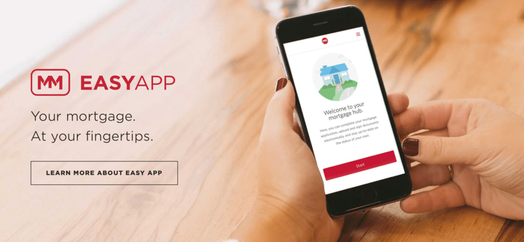 Easy App Mortgage call to action examples