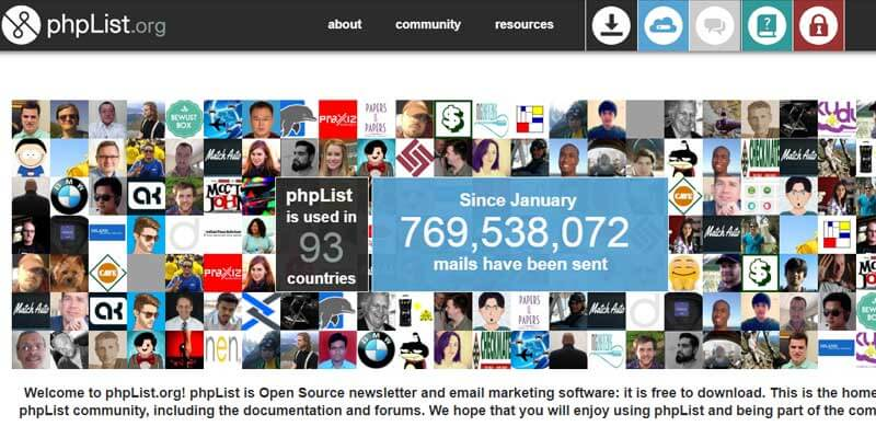 Phplist Newsletter App