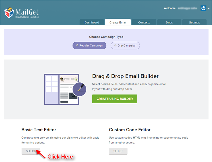 Visual of MailGet email service.
