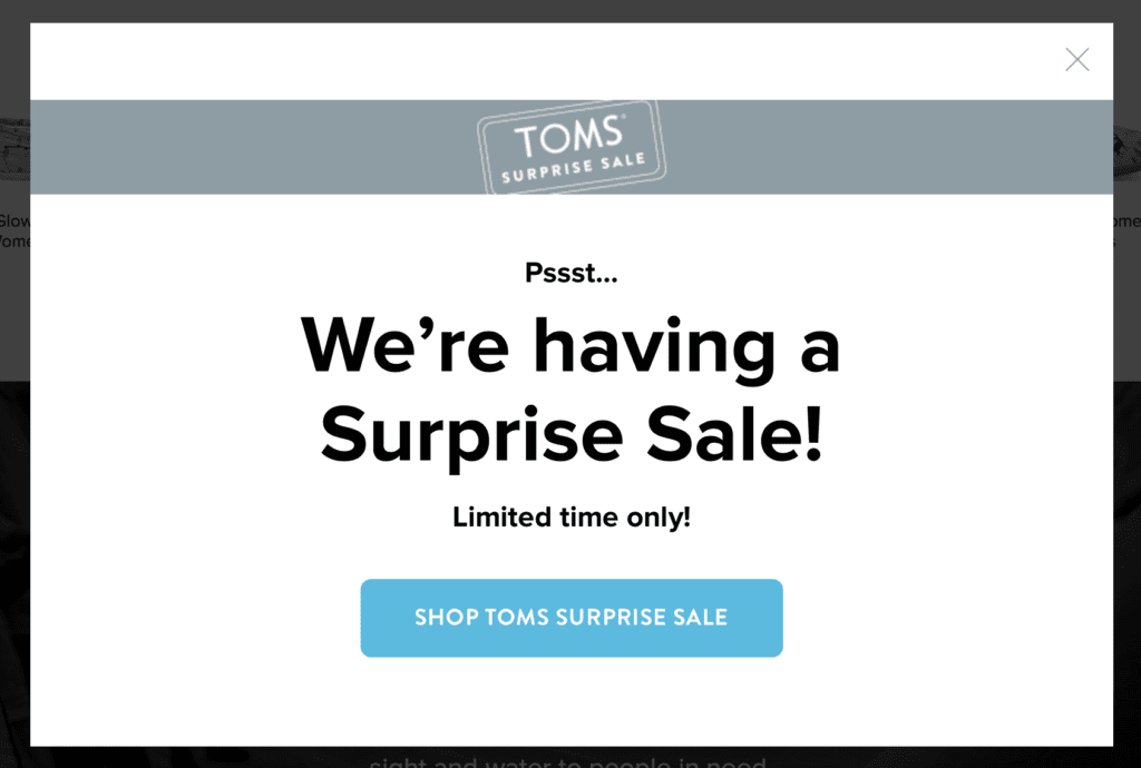Toms call to action examples