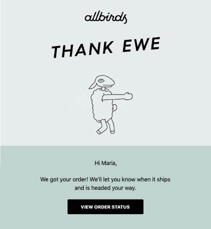 allbirds email confirmation