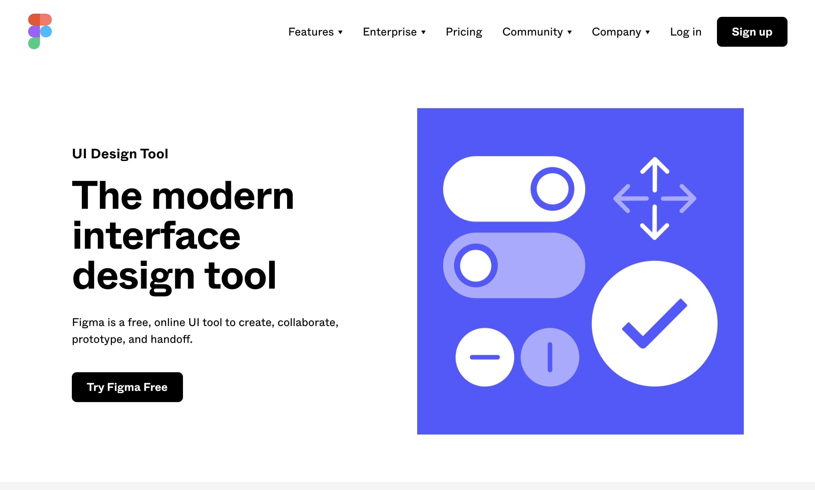 Figma的設計工具登陸頁
