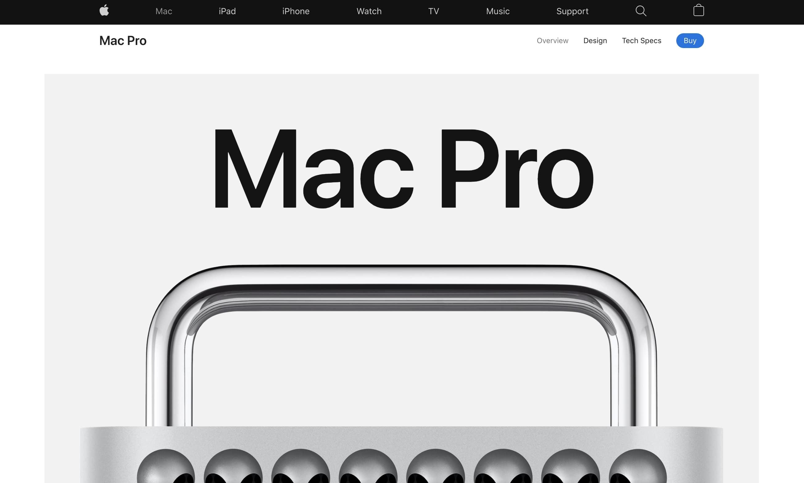 蘋果Mac Pro登陸頁
