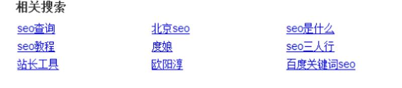 百度Seo相關搜尋關鍵字: