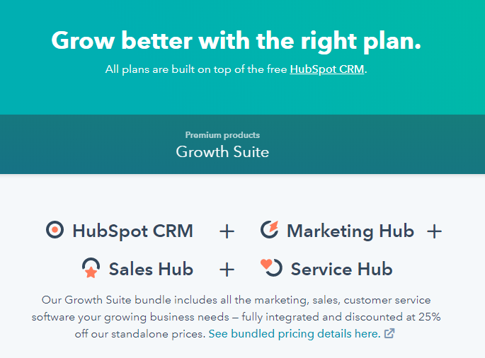 HubSpot 定價-增長套件