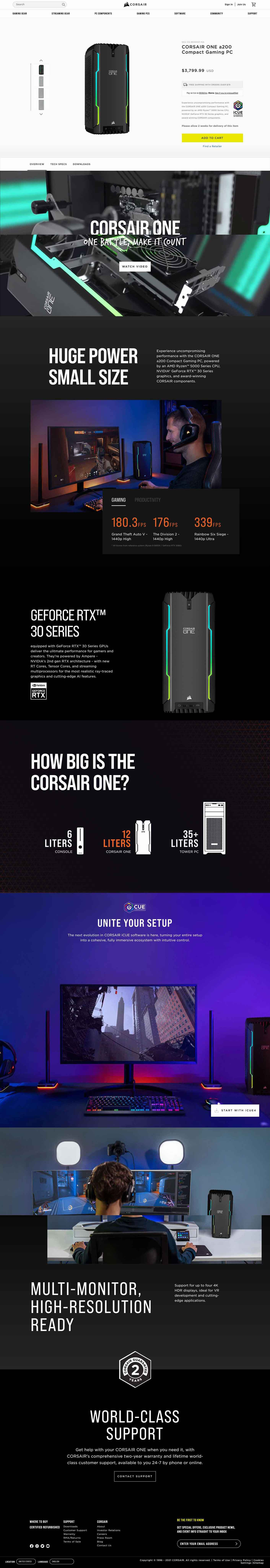Corsair Website and Landing Page